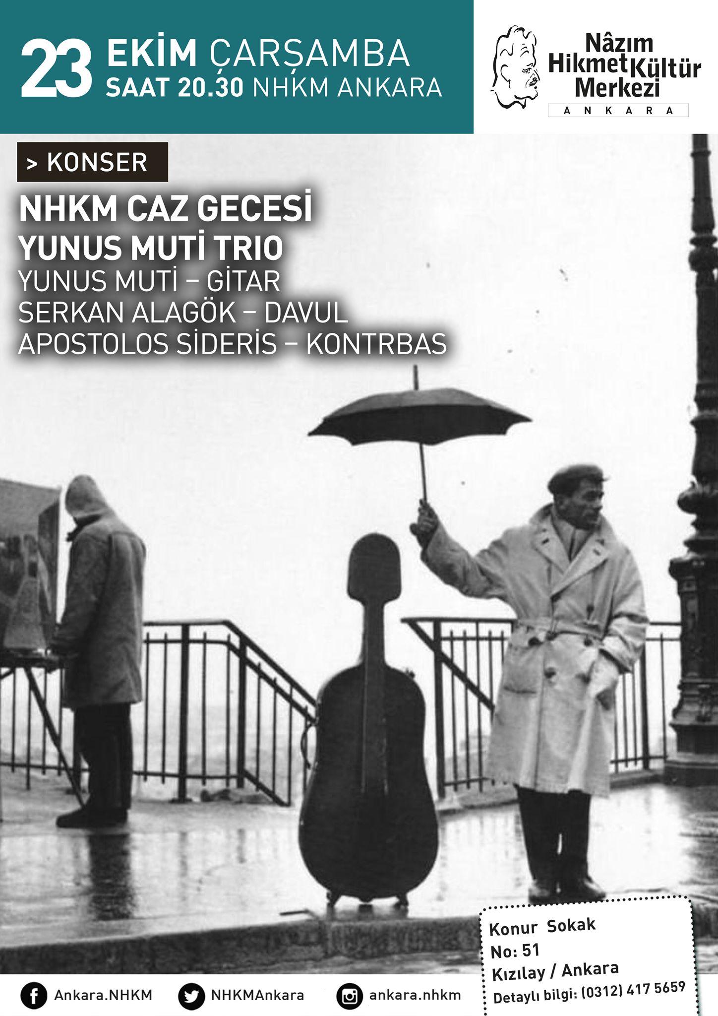 NHKM Caz Gecesi: Yunus Muti Trio